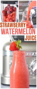 Strawberry Watermelon Juice Recipe Pinterest