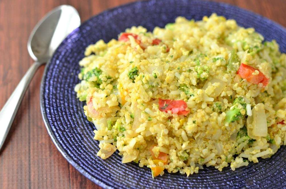 Broccoli Quinoa Fried Rice, a protein packed side dish or even main course.