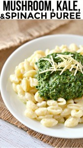 Bored with your old fashioned macaroni and cheese recipe? Top it with our Kale Mushroom and Spinach Puree that is MADE FOR MAC AND CHEESE! Seriously, mix it right in!