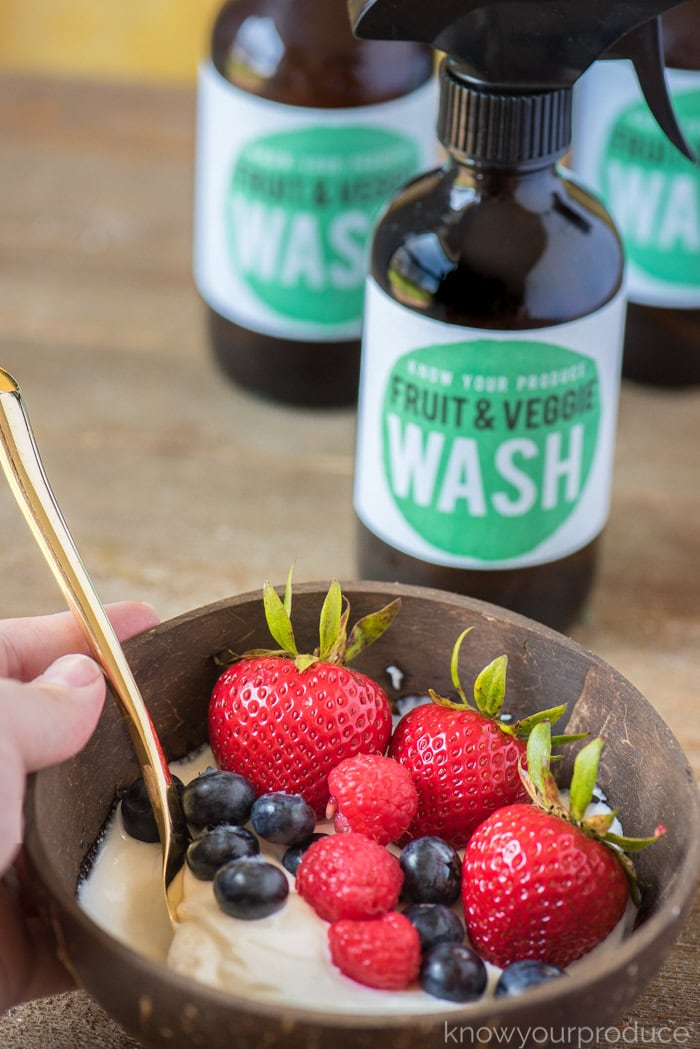 fruit and vegetable wash for washing fruits and vegetables