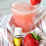 Strawberry Lemon Refresher using Young Living Essential Oils + A Water Filter Giveaway