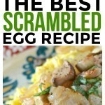 Fresh onions and mushrooms make this scrambled egg recipe shine! It's filled with healthy ingredients and tons of flavor. Quick and easy breakfast recipe.