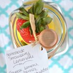 Homemade Strawberry Lemonade DIY Summer BBQ Gift Giving