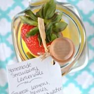 Homemade Strawberry Lemonade DIY Summer BBQ Gift Giving
