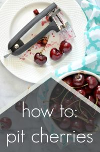 Learn how to pit cherries easily and how to contain the cherry mess that comes with pitting cherries. Great way to enjoy or preserve cherries is without the pit!