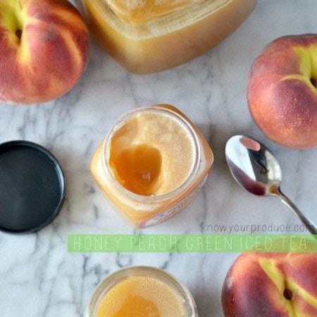 Honey peach Green Iced Tea