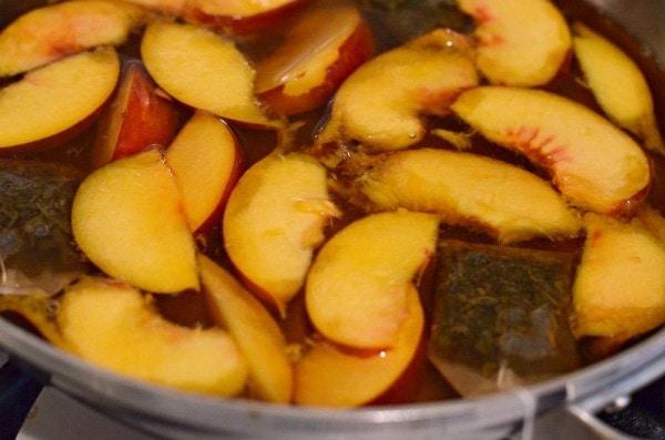honey peach iced green tea 1