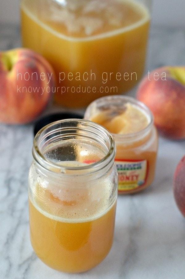 honey peach iced green tea 4