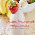 Strawberry Banana Oatmeal Breakfast Smoothie Recipe