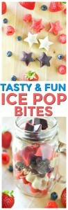 Red White and Blue BERRY Ice Pop Bites. A fun frozen ice pop recipe. Looking for fun and healthy memorial day dessert ideas you've found it!