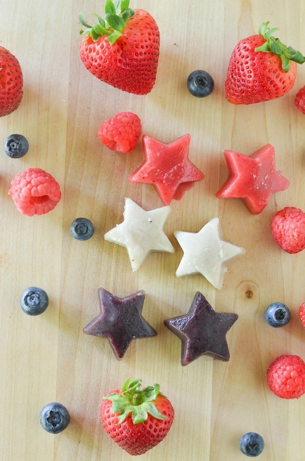Red White and Blue Ice Pop Bites Dye Free Recipe