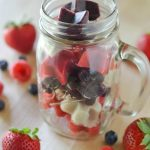 Red White and Blue Ice Pops Bites | Dye Free Recipe