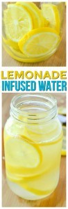 Fresh lemonade water is a great and refreshing drink recipe. If you like infused water recipes fruit filled you can add in some strawberries or even raspberries to this homemade lemonade recipe that has little sugar.
