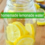 homemade lemonade water