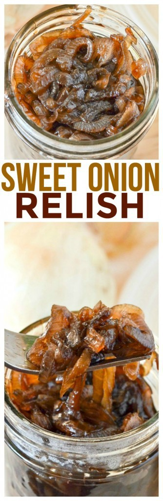 Try this tasty sweet onion relish recipe - or if you want call it onion jam recipe it has sweet balsamic onions caramelized to perfection.