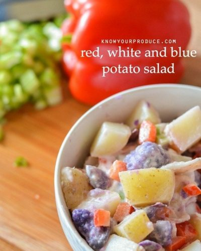 how to make potato salad - red white and blue potato salad