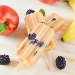 Nectarine Banana Blackberry Ice Pops
