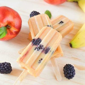Nectarine Banana Blackberry Homemade Ice Pops