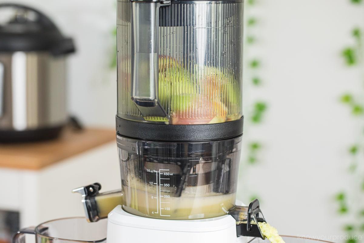 apples in masticating juicer