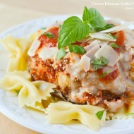 Chicken Parmesan Stuffed Portobella Mushrooms