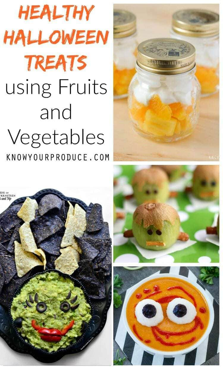 Healthy Halloween Treats using Fruits and Vegetables - easy recipes!