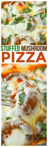 Tasty recipe for stuffed mushroom pizza low carb recipe! Great as a side dish recipe or full meal. Gluten Free Vegetarian pizza. One of the best quick and easy stuffed mushroom recipes you'll find!