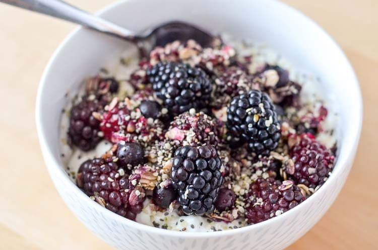 Roasted Blackberry Breakfast Bowl www.knowyourproduce.com Inspired by Samsung new Black Stainless Steel finish