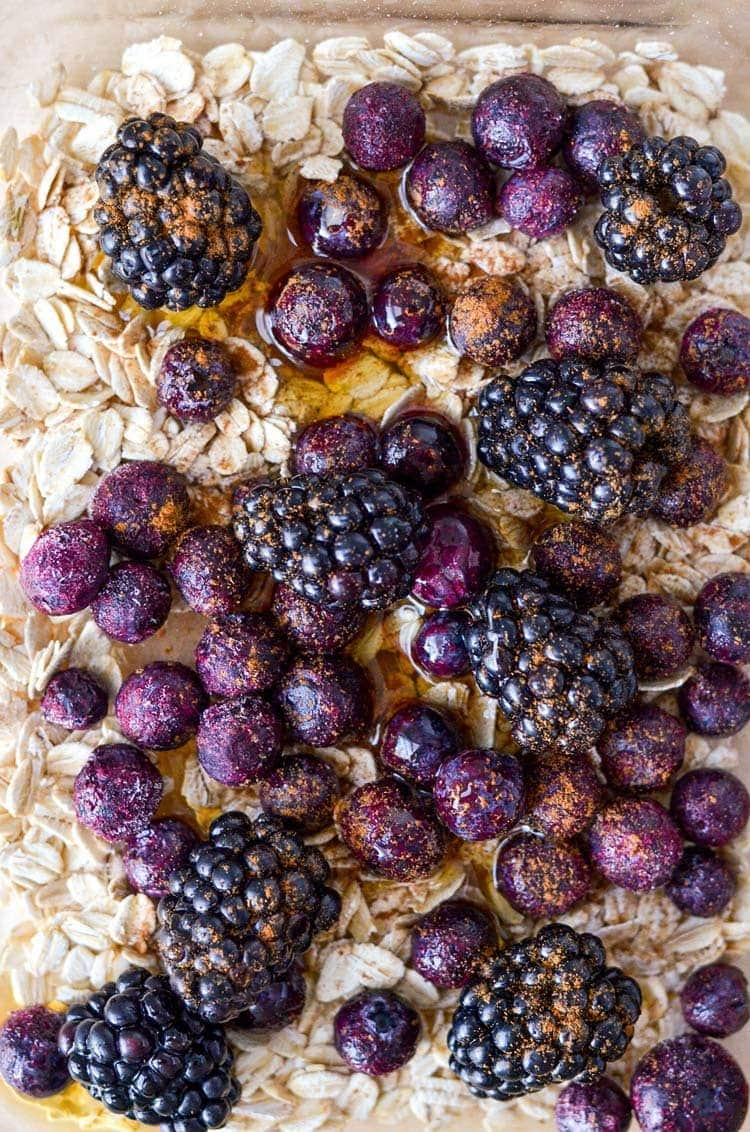 Roasted Blackberry Breakfast Bowl recipe
