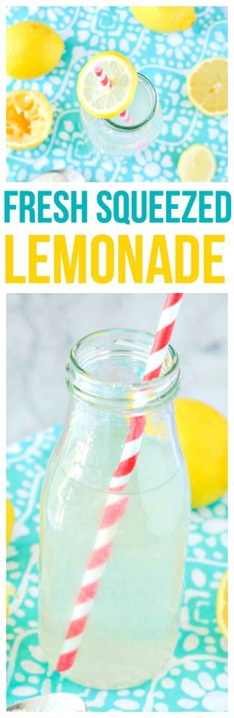 Summer in a glass,Fresh Squeezed Lemonade! A simple and refreshing drink recipe that is perfect for lemonade stands or parties.