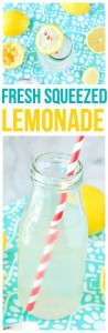 Summer in a glass, Fresh Squeezed Lemonade! A simple and refreshing drink recipe that is perfect for lemonade stands or parties.