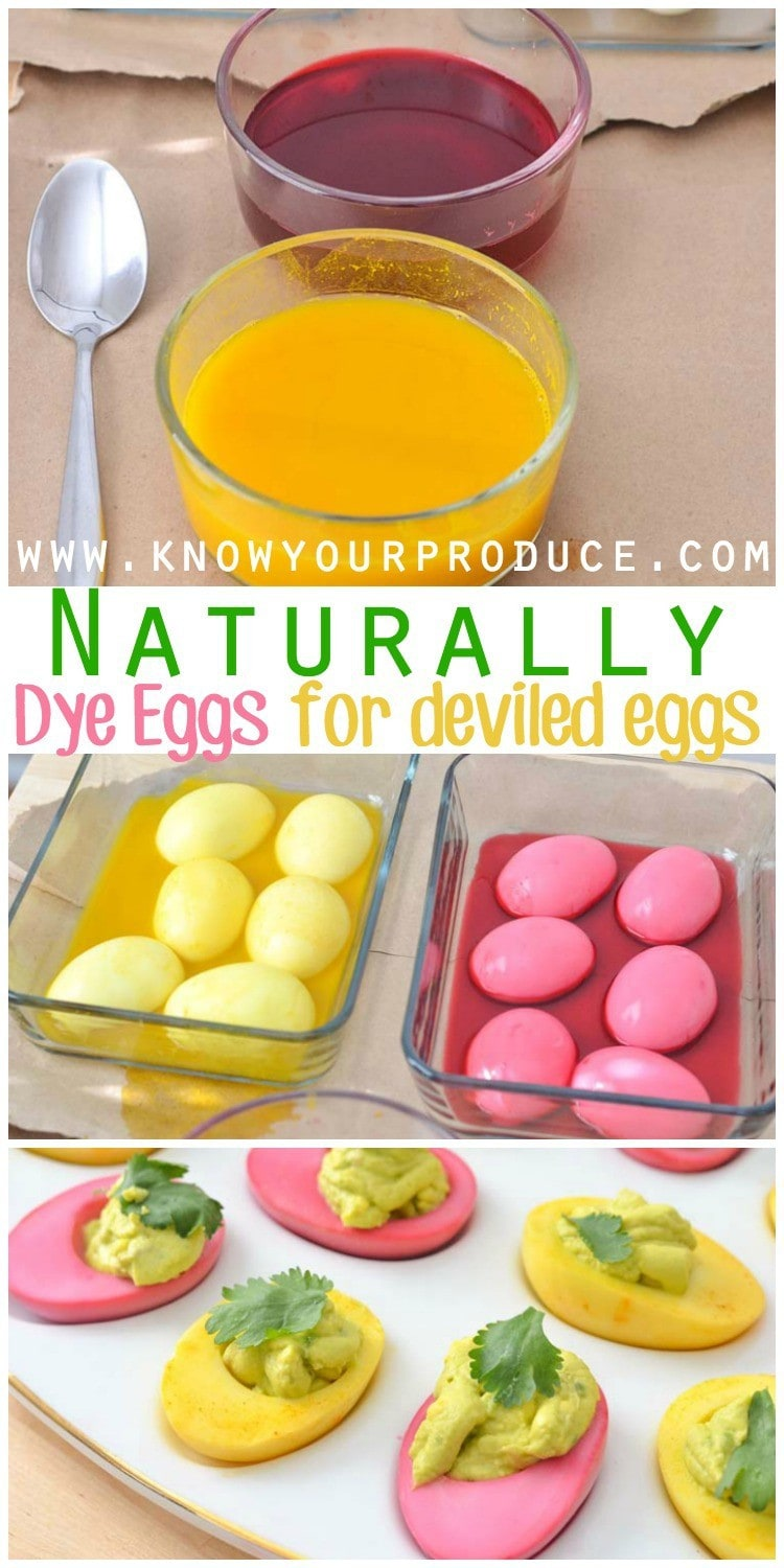 How to Naturally Dye Eggs for Deviled Eggs and Just for snacking! This healthy food dye is so much fun for kids!