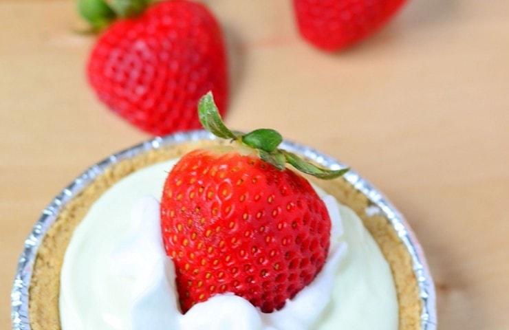 Mini Key Lime Pie with Fresh Strawberries