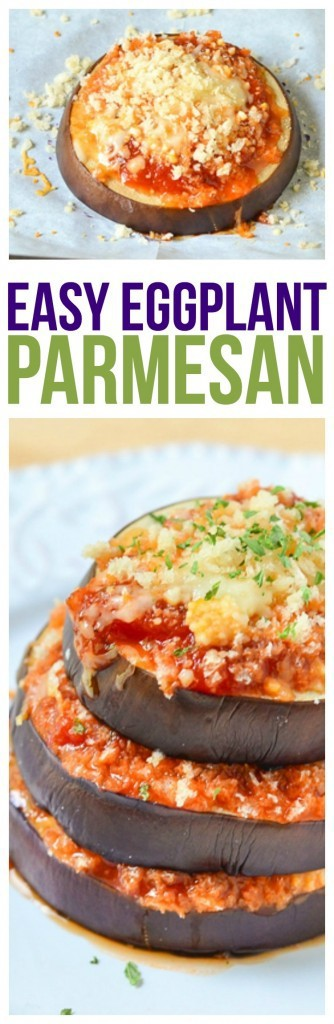Eggplant Parmesan Parmesan Recipe using a thick and hearty sauce, cheeses and herbs. Quick and easy dinner recipe that you can make in less than 30 minutes! eggplant parmesan healthy and delicious