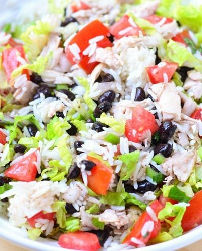 Easy Burrito Bowl Recipe Family Dinner. Wholesome, healthy and nutritious ingredients.