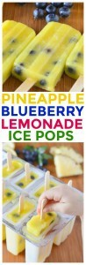 we took our favorite homemade pineapple lemonade recipe and turned it into fun and healthy ice pops for kids. this is one of our daughter's favorite ice pop recipes.
