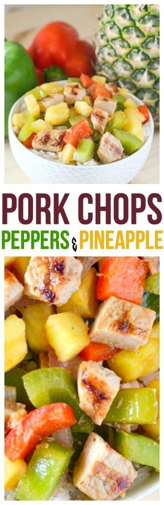 Great healthy pork chop recipes can be easy, especially with this Pork Chops Pineapple and Peppers recipe. Pineapple and pork chops go together like peas and carrots