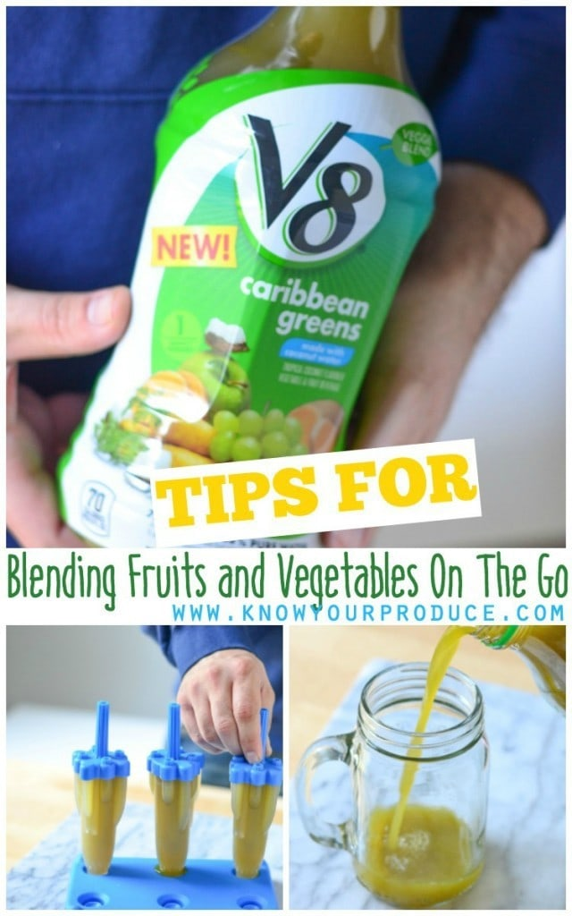 Blending Fruits and Vegetables On The Go with your daily lifestyle may seem like a daunting task. With the help of V8®Veggie Blendsyou can have both fruits and vegetables at the ready. A healthy juice drink for the entire family to enjoy.