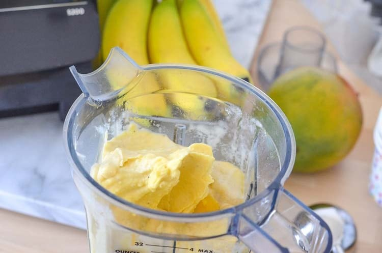 mango ice cream vitamix