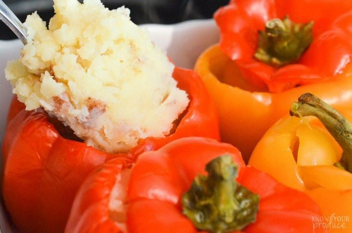You'll love our healthy Turkey Meatloaf Stuffed Pepper Recipe that's also stuffed with Homemade Mashed Potatoes. It's a quick and easy dinner recipe that is great for parties and entertaining.