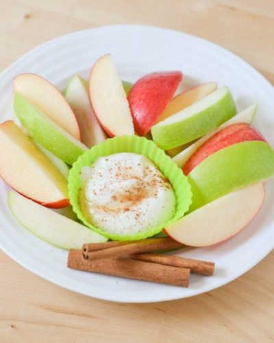 Yogurt Dip for Apples! simple yogurt dip for fruit, easy healthy snack. Serve this refreshing treat with fall favorites like apples pears.