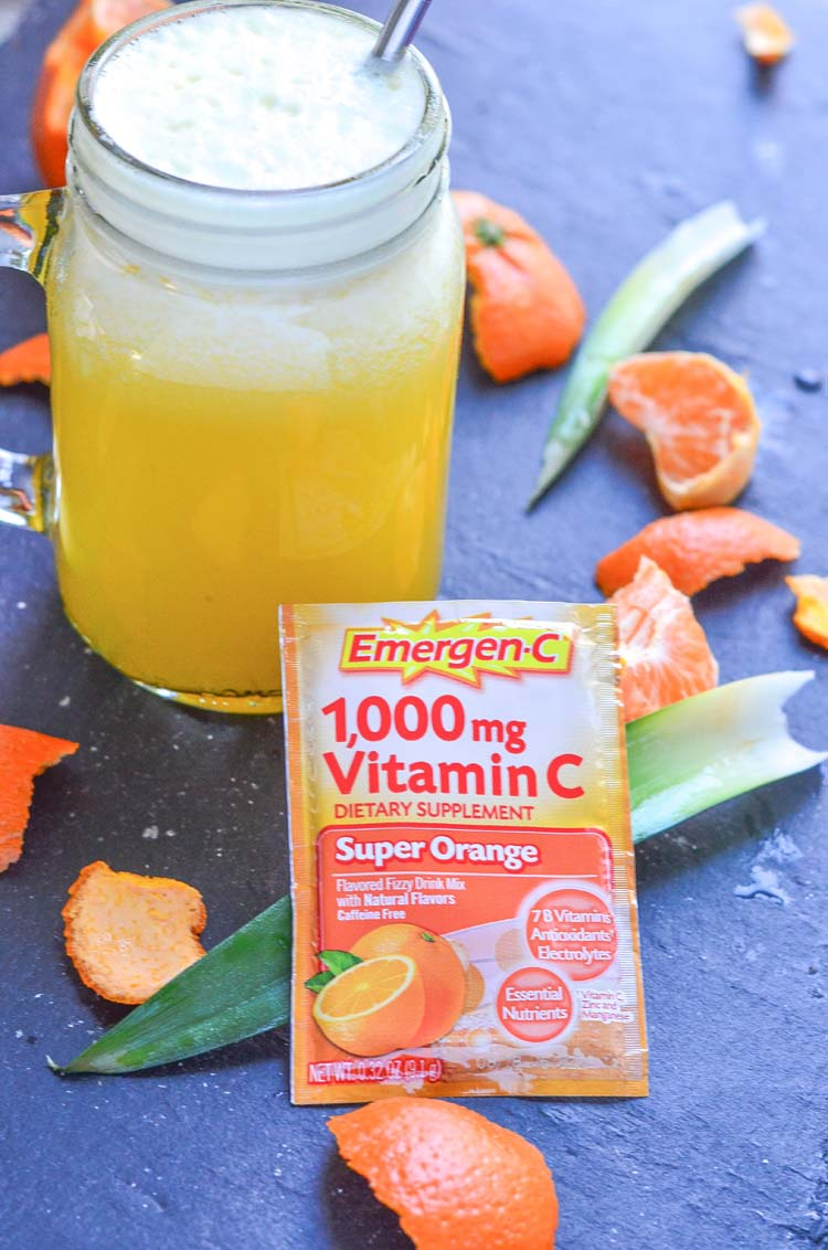 Add our Orange Pineapple Refresher Recipe using Emergen-C Super Orange to your healthy lifestyle for an extra vitamin boost during the winter season.