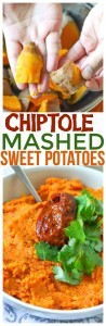 One of our favorite chipotle recipes, Chipotle Mashed Sweet Potatoes is healthy and easy side dish recipes for entertaining.