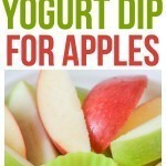 Yogurt Dip for Apples! Simple yogurt dip for fruit, easy healthy snack. Serve this refreshing treat with fall favorites like apples & pears.