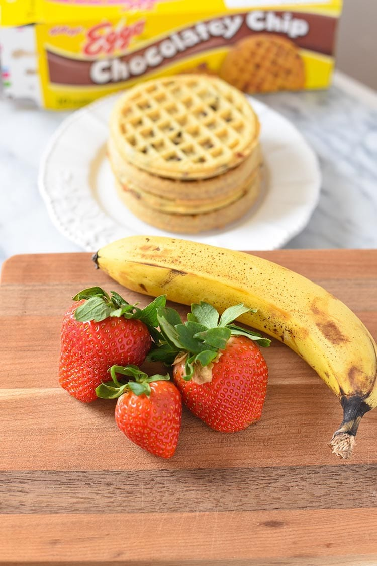 Strawberry Banana Waffle Breakfast Family Style. Clean eating just got easier with Eggos Waffles. Enjoy with your favorite breakfast recipes