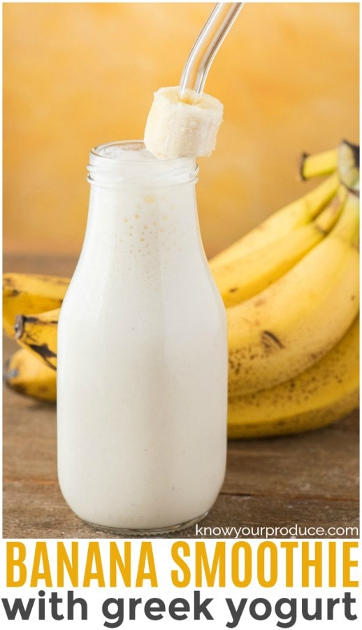 banana smoothie with yogurt pinterest