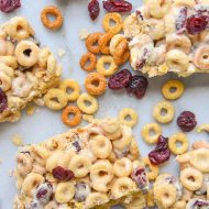 White Chocolate Cranberry Cereal Bars