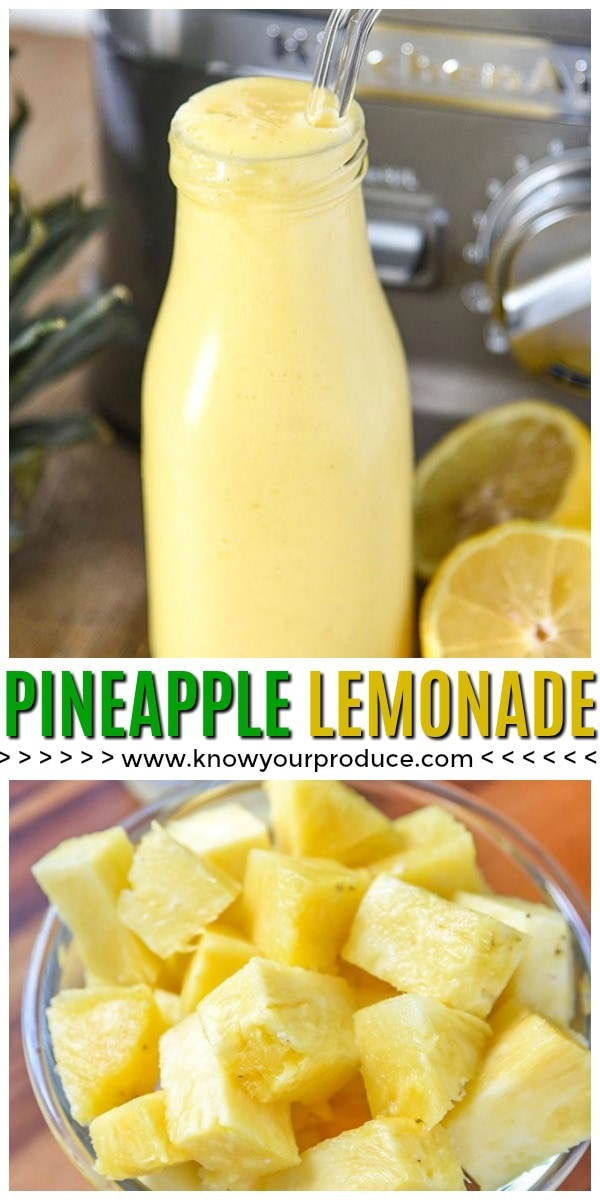 fresh pineapple lemonade blender recipe