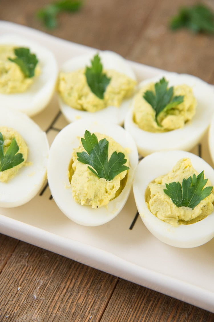 Avocado Deviled Eggs No Mayo