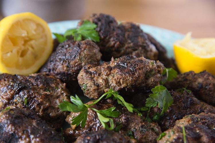 Grilled Beef Kofta Kebabs