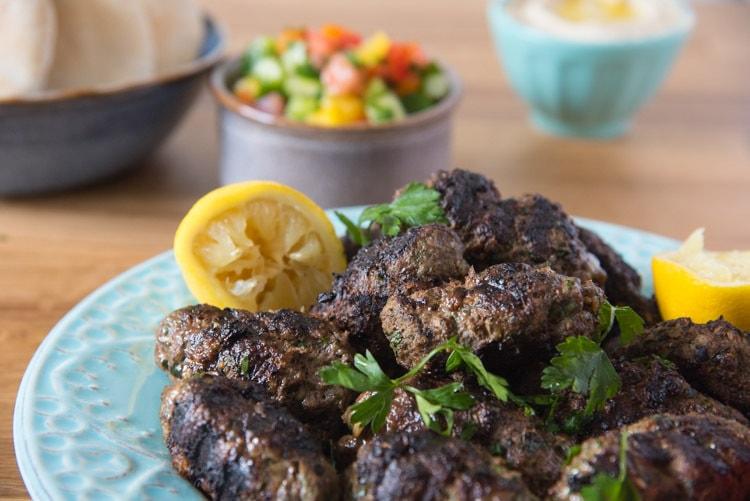 Mediterranean ground beef kabob recipe